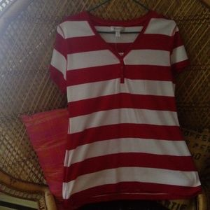 American Dream Red & White Stripped Shirt